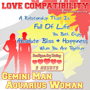 Gemini Man Aquarius Woman Compatibility
