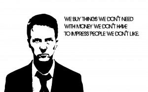 Black and white movies white fight quotes fight club edward norton ...