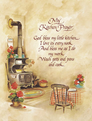 Kitchen Poems, Quotes and Kitchen Prayer