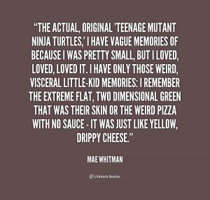 Mae Whitman Ninja Turtles