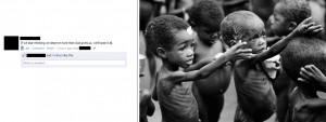 : Hungry people in Africa. Debunking