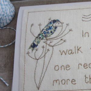 homepage > CAROLINE WATTS EMBROIDERY > EMBROIDERED QUOTE ART CARD