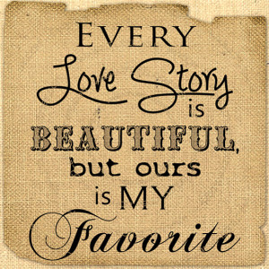 Digital love story quote Romantic love words Collage sheet download ...