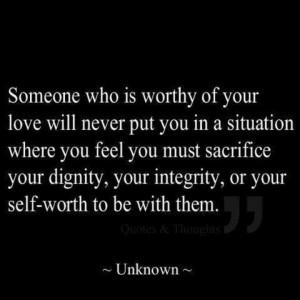 Someone worthy of love