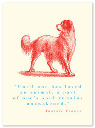 Animal Quote Dog (Anatole France) AADG2