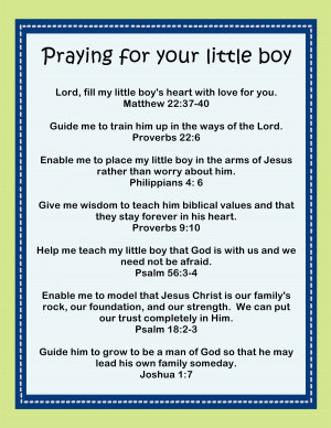 pray that this sweet little printable Praying for your little boy ...