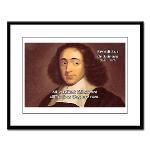 Spinoza Ethics Philosophy Large Framed Print