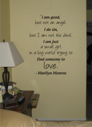 MARILYN MONROE QUOTE decal sticker wall beautiful