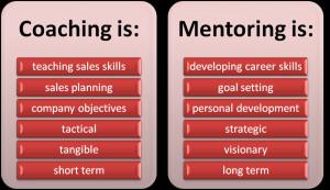 Sales Coaching vs Sales Mentoring