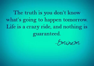 Nothing Is Guaranteed Eminem Quote