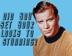 The final one is Captain James Tiberius Kirk, again from Star Trek ...