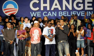 Rap artists Mary J Bilge, Diddy and Jay-Z at the Last Chance for ...