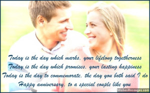 Happy anniversary wishes for a sweet couple