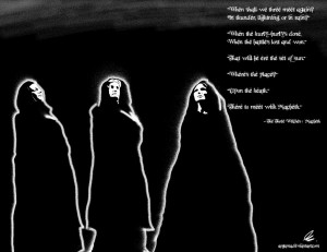 The Three Witches of Macbeth by Argama