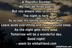 Peaceful SlumberWe may