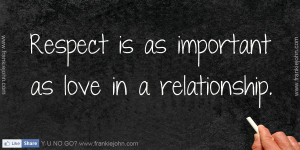 Respect Relationship Quotes Home quotes respect is as