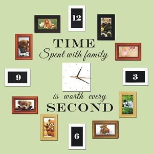 Time-Spent-with-Family-is-Worth-Every-Second-Art-Wall-Quote-Stickers ...