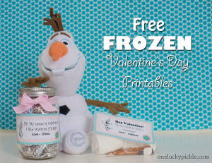 Frozen Valentine's Day Printable Tags