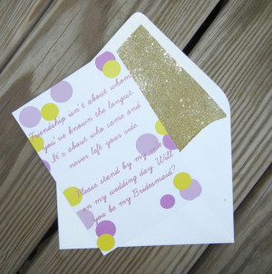 Friendship Quote Bridesmaid Cards // Gold by PinkChampagnePaper