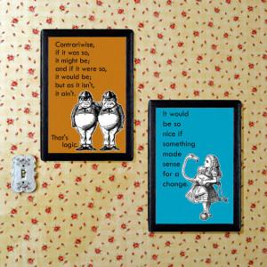 Alice in Wonderland | Children | Nursery Art Print Set | A6 4x6 ...