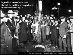 AA MLK Civil Rights lynch mob justice quote