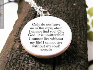 Romantic Wuthering Heights Literature Necklace with