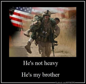 Combat soldiers, brotherhood