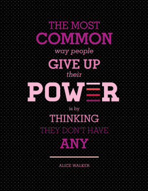 Create typographic art using quotes about women empowerment