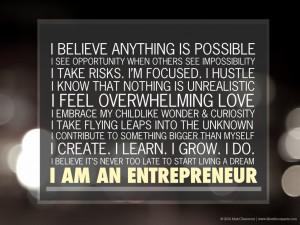 We're all entrepreneurs.