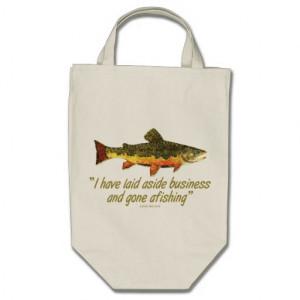 Izaak Walton Fishing Quote Bag