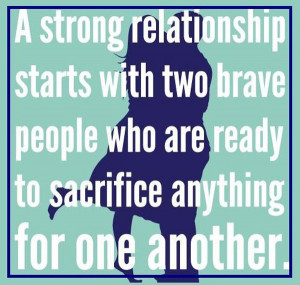 strong relationship based on selflessnes.