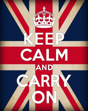 Old quote with the Union Jack
