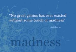 wise, wisdom, cute, quotes, sayings, aristotle, madness, genius ...
