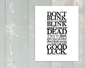 Doctor Who - New Series - BLINK - Don't Blink Quote - Tenth Doctor ...