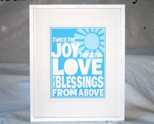 TWINS Baby Nursery Quotes about Twins Poster by rawartletterpress, $18 ...