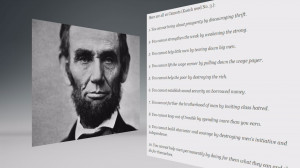 Ohio governor uses a quote from Abraham Lincoln to support hi argument ...