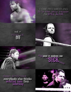 Dean Ambrose. Not my edit, credit to its maker, very very cool.
