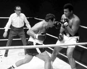 Rocky Marciano fighting Muhammed Ali Image