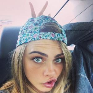 big eyes, blonde, blue eyes, cara delevingne, cool, duck face ...