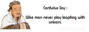 Confucius Say Jokes Clean