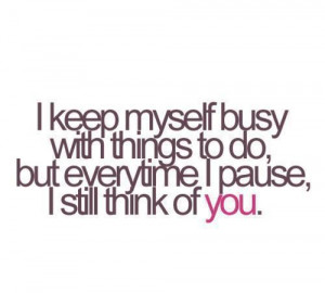boy, busy, cute, love, quote, think of you, typography, you