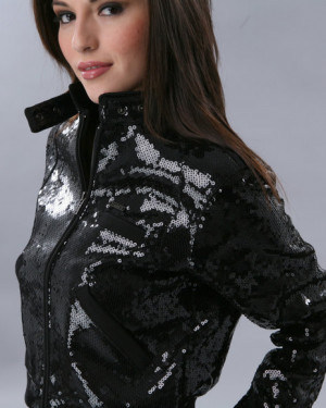 Attention Whore Sequin Jacket by Married to the Mob