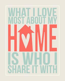 Home Free Print via eighteen25 blog