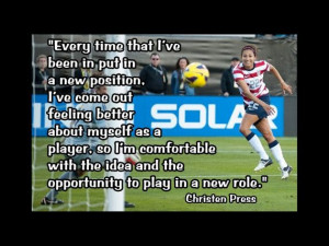 Soccer Poster Christen Press Photo Quote Wall by ArleyArtEmporium, $11 ...