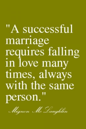 Quote on marriage, love, and commitment.