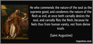 St Augustine On Human Nature Quotes