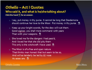 Play Othello Quotes Quotesgram