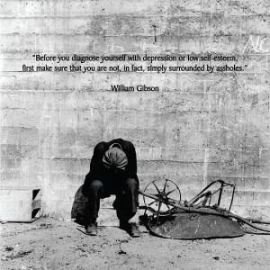 Funny quote depression low self esteem