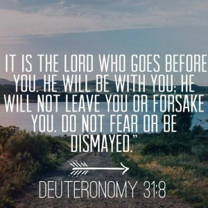 It is the Lord who goes before you. He will be with you; he will not ...