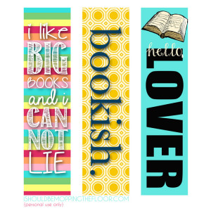 printable bookmarks available from I Should Be Mopping the Floor